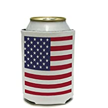 USA American Flag United States - Birthday July 4th Patriotic Can Cooler - Drink Insulator - Beverage Insulated Holder by Graphics and More