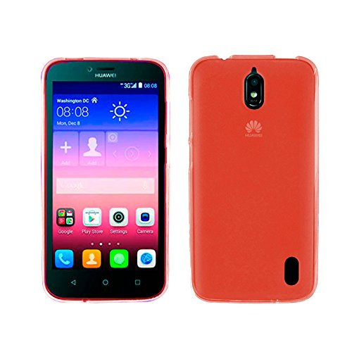 TBOC® Rot Gel TPU Hülle für Huawei Ascend Y625 Ultradünn Flexibel Silikonhülle