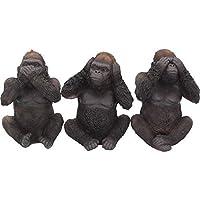 Nemesis Now Three Wise Gorillas  Figurine 34cm Black