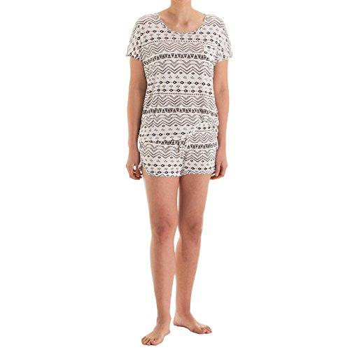 Romesa - Ensemble de pyjama - Femme Multicolore Multicolore 36 Blanc
