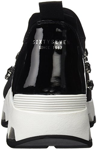 Sixty Seven 78540, Chaussures de Tennis Femme NEOPRENE NEGRO / PATENT NEGRO