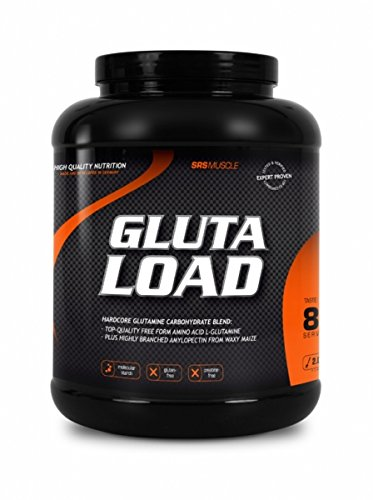 SRS Muscle - Gluta Load, 2.000 g, Orange | Glutamine Carb Loader | Kreatin-Alternative mit L-Glutamin und Amylopure | glutenfrei | deutsche Premiumqualität