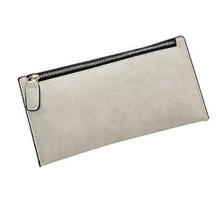 ANGGO Stilvoll Damen Geldbörse Karten-Satz PU-Leder Geldbeutel (Weiß)
