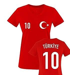 EM 2016 | TRIKOT | TÜRKEI | WUNSCHDRUCK | Damen V-Neck T-Shirt