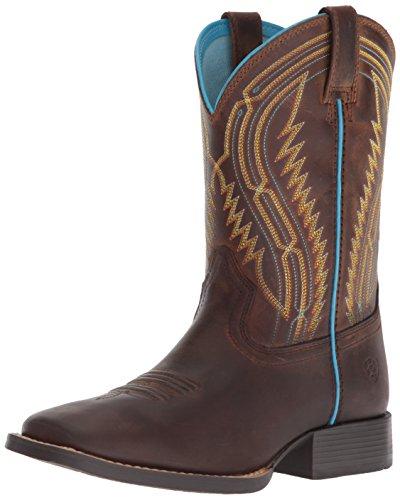Ariat Kids' Chute Boss Western Boot, Distressed Brown, 4 M US Big Kid