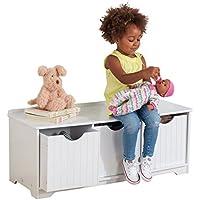 Preisvergleich für KidKraft 14564 Nantucket Sitzbank mit Stauraum aus Holz für Kinder in weiß mit 3 Körben - Kinderzimmer Möbel