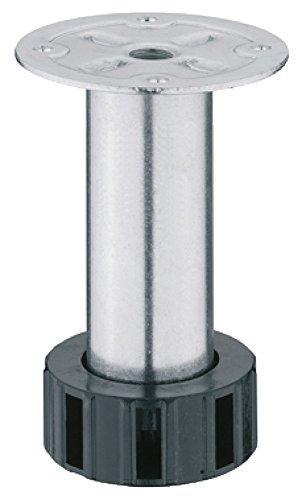 Schrankfuß Metall Möbelfuß höhen-verstellbar Küchen-Unterschrank Sockelfuß - H4050 | Metall verzinkt | Verstellfüße mit Höhe 90 mm | Tragkraft 300 kg | Möbelbeschläge von GedoTec®