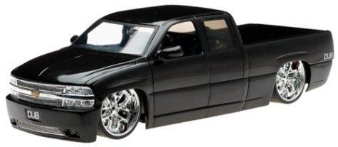 2002 Chevy Silverado Diecast Model Truck - 1:18 Scale Black by Dub City