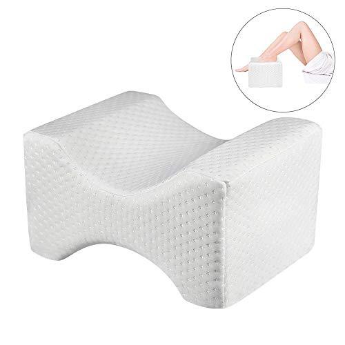 YJJ Leg Kissen, Memory Foam Bein Kissen für Seitenschläfer Knieschmerzen Abdeckung für chronischen Rücken Nerven Ischias Schwangerschaft-Verbesserung Schlafen