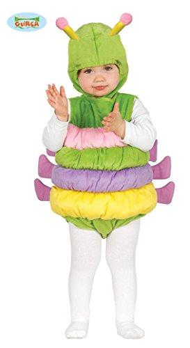 Babykostüm Raupe Tierkostüm für Kinder bunte Raupe Insekt Body Gr. 74-92, Größe:86/92