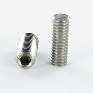 Boîte de 100 pièces : VIS METAUX INOX A2 SANS TETE SIX PANS CREUX STHC 10X10 B. PLATE