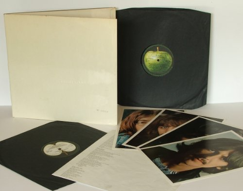 THE BEATLES, White Album No.0384900. Black inner sleeves, poster and four photos. Mono. First UK pressing 1968. Apple. -