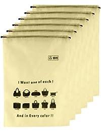 B11 Handbag Dust Cover Women Purse Storage Bag Drawstring Storage Packing Bags (Medium) Set Of 6 Bags