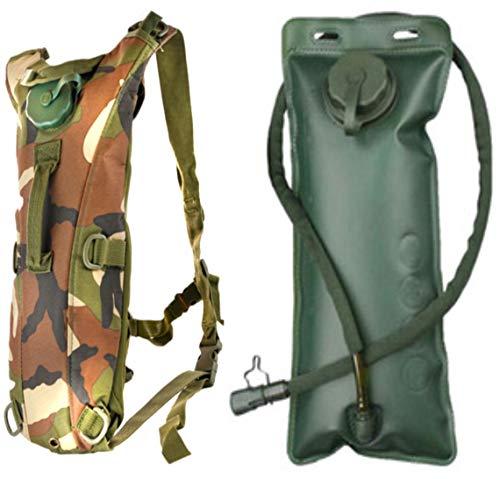 Moji Bags Hydratation Rucksack Packung mit 3 Liter Wasserblase, leichtem Wasserreservoir-Rucksack mit Reinigungsset und weichem Mundstück zum Wandern Laufen Camping Biken Outdoor Sportarten (Hydratation Blase Mundstück)
