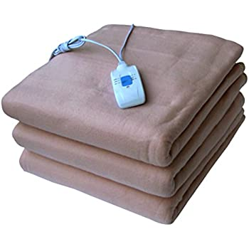 PINDIA Electric Blanket Beige Double Bed Comfort Warmer Heater Under Bed (150 CMS* 120 CMS)