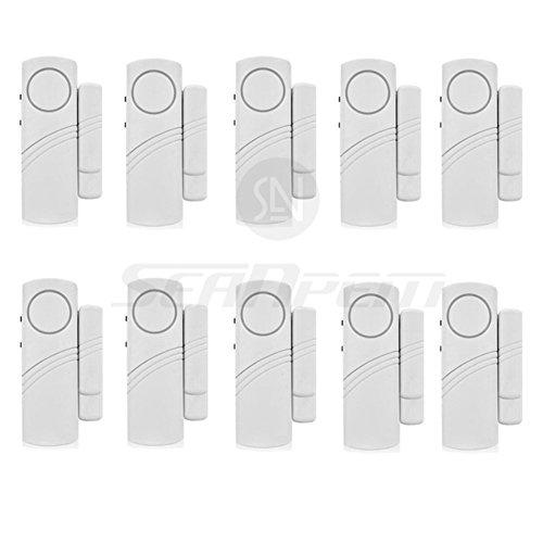 Mini Tür und Fensteralarm im 10-er Pack Drahtlos Türalarm Tür-Sensor Haus alarmanlage Sicherheit für Haus - Price Xes