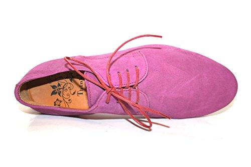 Think Guad 82290 Damen Schnürhalbschuhe Pink (magnolia/kombi 31)