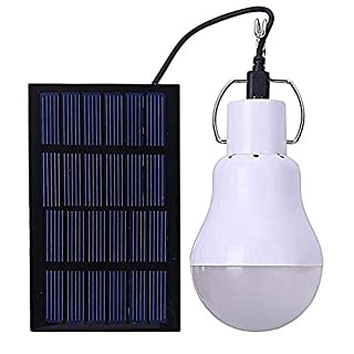 Solar Powered Shed Led Light Bulb - GreeSuit Portable USB Charge Lantern Lamp Spotlight Indoor Office Kitchen Reading with Solar Panel for Outdoor Hiking Camping Tent Fishing Lighting