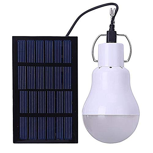 Bombilla de LED Solar Portatil - GreeSuit Lampara solares ampoule alimentée par énergie projecteur lampe à portative avec panneau solaire pour randonnée extérieure camping tente éclairage de pêche
