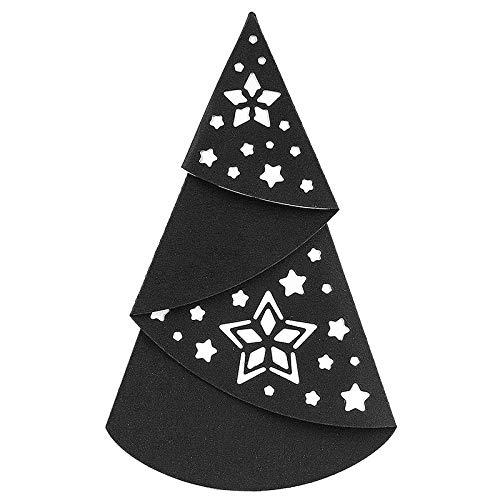 Stanzschablone, Falttanne 2, 16,4cm x 10,9cm, passend für gängige Stanzmaschinen | Schablone zum Gestalten von Grußkarten-Auflegern, Anhängern | Weihnachten, Advent