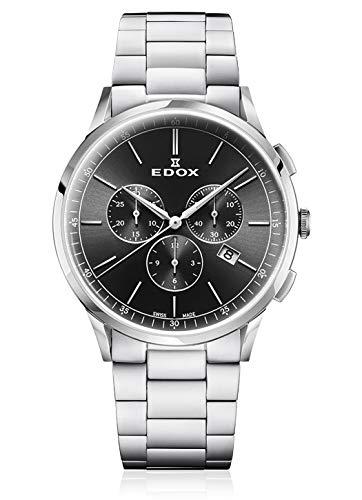 Edox 10236 - Reloj de Pulsera para Hombre (3 m, cronógrafo, Fecha, analógico, Cuarzo)