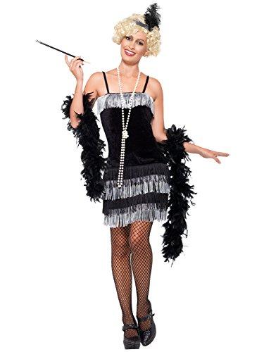 Baker Kostüm Josephine - Smiffys 20er Jahre Charleston Flapper-Kleid - für Damen - Große