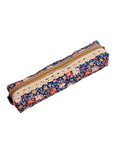 SAMGU Polka Dot Fleur dentelle florale Pencil Case Pen sac sac de maquillage cosmétique Sac pochette