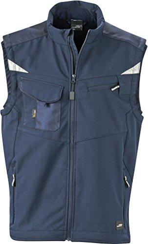 FaS50845 Workwear Sommer Softshell Weste atmungsaktiv wasserabweisend Herrenweste Navy/Navy