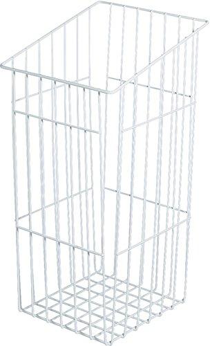 Gitterkorb Wäschekorb weiß Wäsche-Korb mit Einhänge-Funktion | Wäsche-Sammler stapelbar | Breite 240 mm | Tiefe 290 mm | Metall RAL 9010 weiß pulverbeschichtet | GedoTec® powered by HÄFELE (Hafele Korb)