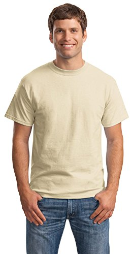 Hanes Mens Beefy-T Born to Be Worn 100% Cotton T-Shirt Sand