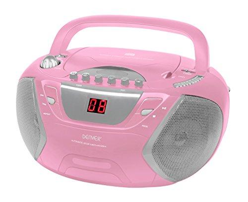 Denver 12224220 Kasettenspieler (CD-R/RW) rosa