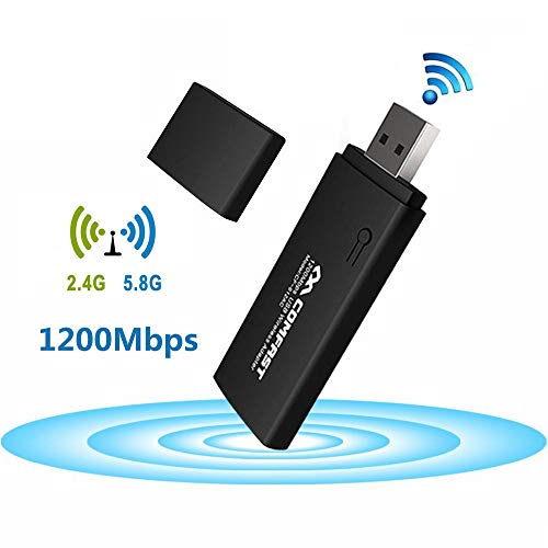 COMFAST Wireless USB Adapter WLAN Adapter (5G/866Mbps + 2.4G/300Mbps) WLAN Stick USB3.0 für Windows10/8.1/8/7/VISTA/Mac/PC/Desktop - Mac Pc Wireless-router Und Für