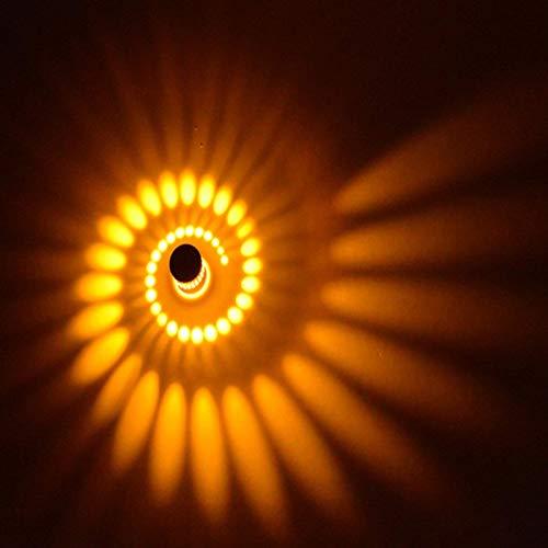 Coocnh 3W LED Wandleuchte Wandlampe Badlampe Wandstahler Effektlampe Badleuchte Flurlampe Gelb