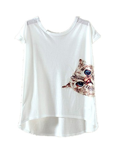 YICHUN Damen T-Shirt Chat 10#