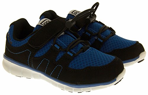 GOLA Fitness pour garçon Pointure Casual Chaussures de cours'à pied Taille 10 11 12 13 1 Bleu - Blue & Black