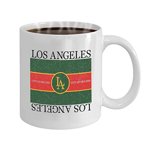 Funny Gifts for Halloween Party Gift Coffee Mug Tea los angeles graphic fashion slogan typography (Halloween Los Angeles)