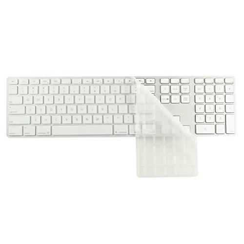 Numerische Tastatur-layout (MiNGFi Tastatur Silikon Schutz Abdeckung für Apple Keyboard mit numerischer Tastatur US/ANSI Keyboard Layout Silicone Cover - Transparent)