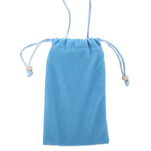 DFV mobile - Case Cover Soft Cloth Flannel Carry Bag with Chain and Loop Closure for =>      APPLE IPHONE 3G > Black Blue