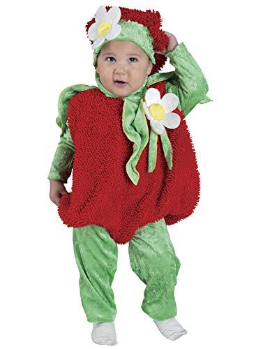 Tomaten Kinder Kostüm - Clown Republic- Tomate Baby Kostüm, Kinder, Unisex, 27612/12, mehrfarbig