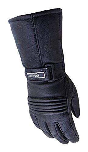 Australian Bikers Gear Vector Pro Series-Guanti sportivi da moto, pelle, taglia XL, colore: nero