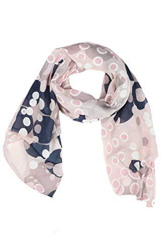 Zwillingsherz Seiden-Tuch im Punkte Design - Hochwertiger Schal für Damen Mädchen - Halstuch - Umschlagstuch - Loop - weicher Schlauchschal für Frühjahr Sommer Herbst und Winter - rosa