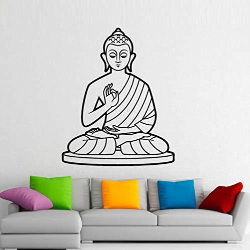 wuyyii 51x43 cm Buddhismus Muster Lotus Blume Buddha Wandtattoos Vinyl Aufkleber Home Decor Abnehmbare Wandaufkleber Moderne