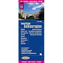 Reise Know-How Landkarte Westliche Balkanregion (1:725.000) : Albanien, Bosnien und Herzegowina, Kosovo, Kroatien, Mazedonien, Montenegro, Serbien, Slowenien: world mapping project
