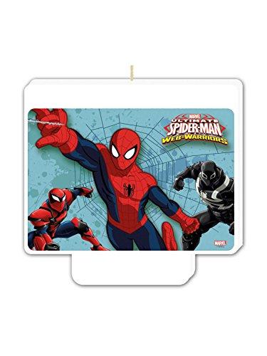Vela cumpleaños Spiderman - Única