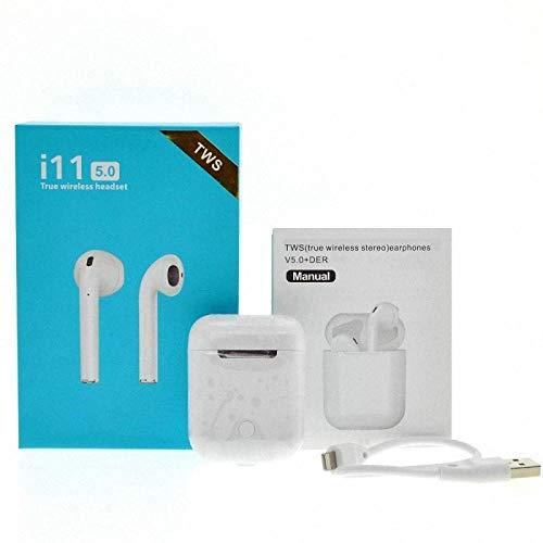 Écouteurs Intra-Auriculaires Mini-écouteurs sans Fil Bluetooth 5.0 I11 TWS avec boîte de Charge iOS Android Tous Les Smartphones
