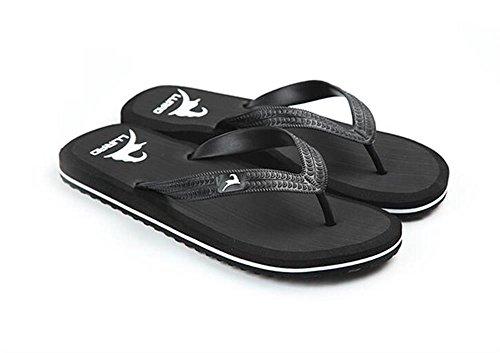 ALUK- Sommer Sandalen - Herren Hausschuhe Hausschuhe mit Europa und die Vereinigten Staaten Trend der Strand Schuhe ( Farbe : Schwarz , größe : 39 ) Schwarz