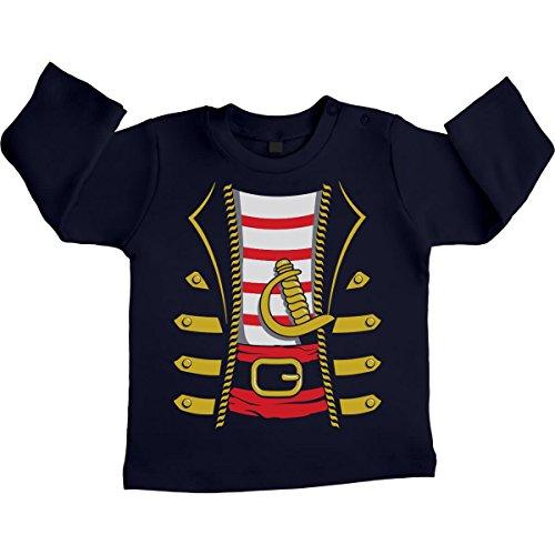 eval und Halloween Kostüm Unisex Baby Langarmshirt Gr. 66-93 18-24 Monate / 93 Marineblau (Halloween-kostüm Für 18-24 Monate Junge)