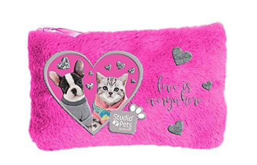 FACTORYCR- Portatodo Plano Pink Plush peu079 Studio Pets 2,7x20 Estuche, Multicolor, 20 X 12,7 X 1 cm s (PEU-079)