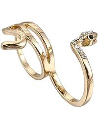 Los hombres y las mujeres alean el anillo plateado oro de la serpiente