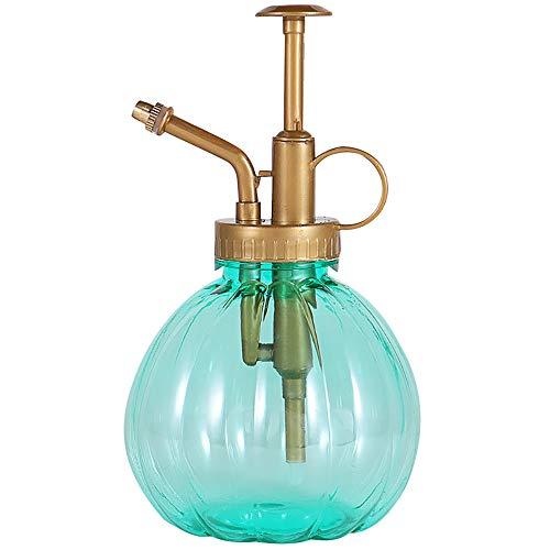 FiedFikt Gießkanne Topf Sprühflasche Kunststoff Bewässerung Blumen Garten Nebel Wasser Spray für Salon Friseurpflanzen Sprüher 350 ml grün -